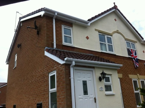 Guttering and Downpipes Installed by Bamford Roofing Rochdale